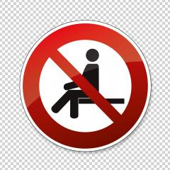No sitting. Do not sit on surface, prohibition sign, on checked transparent background. Vector illustration. Eps 10 vector file. : Stock Photo or Stock Video Download rcfotostock photos, images and assets rcfotostock | RC-Photo-Stock.:
