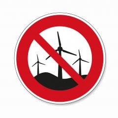 No Wind turbines. Wind generator or wind park ban or not allowed, prohibition sign, on white background. Vector illustration. Eps 10 vector file. : Stock Photo or Stock Video Download rcfotostock photos, images and assets rcfotostock | RC-Photo-Stock.: