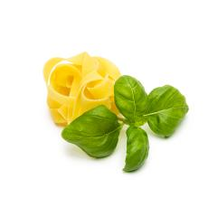 noodle nest with basil leaf- Stock Photo or Stock Video of rcfotostock | RC-Photo-Stock