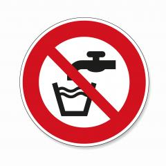 Not drinkable water. Do not use water to drink in this area, prohibition sign, on white background. Vector illustration. Eps 10 vector file.- Stock Photo or Stock Video of rcfotostock | RC-Photo-Stock