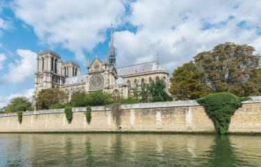 Notre Dame de Paris Cathedral, most beautiful Cathedral in Paris, view from the River Seine, France. : Stock Photo or Stock Video Download rcfotostock photos, images and assets rcfotostock | RC-Photo-Stock.: