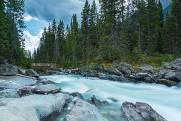 Numa Falls with bridge at the Kootenay National Park canada : Stock Photo or Stock Video Download rcfotostock photos, images and assets rcfotostock | RC-Photo-Stock.: