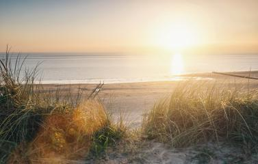 ocean view at sunset over the sand dunes on the Baltic sea- Stock Photo or Stock Video of rcfotostock | RC-Photo-Stock