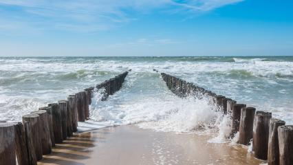 ocean view with breakwater and waves- Stock Photo or Stock Video of rcfotostock | RC-Photo-Stock