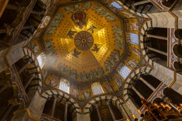 octagon of the Aachen Cathedral - Stock Photo or Stock Video of rcfotostock | RC-Photo-Stock
