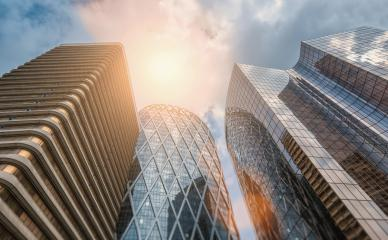 office buildings skyscrapers in a business district- Stock Photo or Stock Video of rcfotostock | RC-Photo-Stock