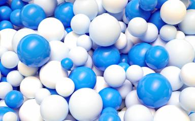Oktoberfest blue and white balls background - 3D Rendering- Stock Photo or Stock Video of rcfotostock | RC-Photo-Stock