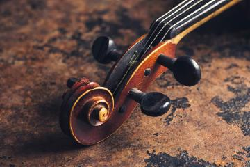 old antique stradivarius Violin head- Stock Photo or Stock Video of rcfotostock | RC-Photo-Stock