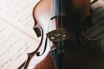 old antique Violin on paper notes- Stock Photo or Stock Video of rcfotostock | RC-Photo-Stock