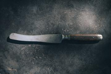 Old Knife on Rusty Metal Sheet- Stock Photo or Stock Video of rcfotostock | RC-Photo-Stock