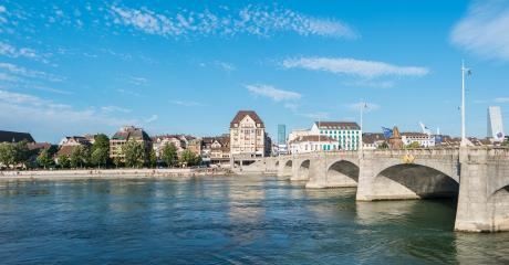 old town of Basel with bridge over the rhine river, Switzerland- Stock Photo or Stock Video of rcfotostock | RC-Photo-Stock