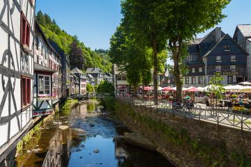 Old Town of Monschau at the Rur river- Stock Photo or Stock Video of rcfotostock | RC-Photo-Stock