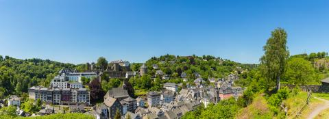 Old Town of Monschau skyline panorama- Stock Photo or Stock Video of rcfotostock | RC-Photo-Stock