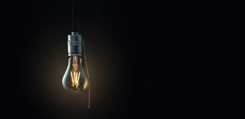 old vintage hanging light bulb over dark background- Stock Photo or Stock Video of rcfotostock | RC-Photo-Stock