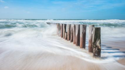 old wooden breakwater in North sea- Stock Photo or Stock Video of rcfotostock | RC-Photo-Stock