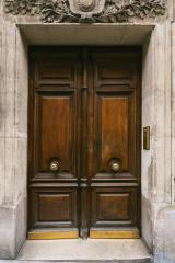 old wooden door in Paris, France- Stock Photo or Stock Video of rcfotostock | RC-Photo-Stock