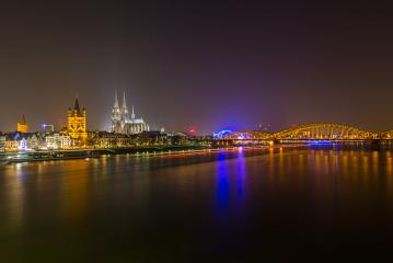 ologne Cathedral at the Rhine river at night : Stock Photo or Stock Video Download rcfotostock photos, images and assets rcfotostock | RC-Photo-Stock.: