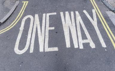 One way sign painted on road- Stock Photo or Stock Video of rcfotostock | RC-Photo-Stock