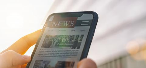 Online news article on smartphone screen. Electronic newspaper or magazine. Latest daily press and media. Mockup of digital portal and website. person using web service in the morning. Reading text.- Stock Photo or Stock Video of rcfotostock | RC-Photo-Stock