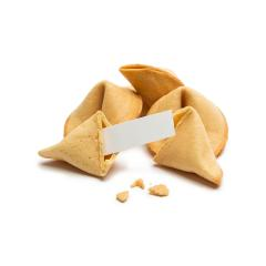 open fortune cookie with crumbs - Stock Photo or Stock Video of rcfotostock | RC-Photo-Stock