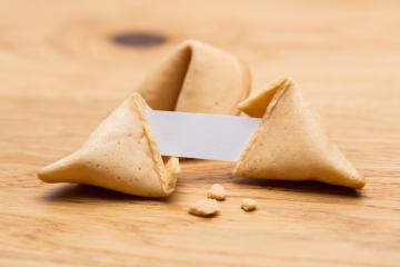 open fortune cookie with note- Stock Photo or Stock Video of rcfotostock | RC-Photo-Stock