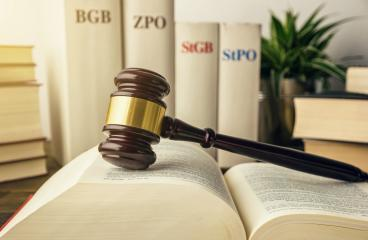 Open law book with a judge gavel and german law books (BGB, ZPO, STGB, STPO) in a law enforcement office- Stock Photo or Stock Video of rcfotostock   RC-Photo-Stock