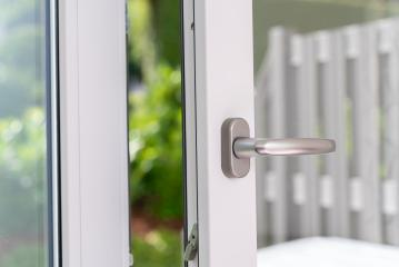 opened white plastic pvc window with garden view- Stock Photo or Stock Video of rcfotostock | RC-Photo-Stock