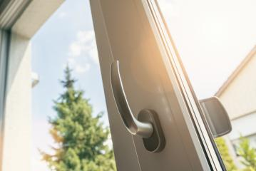 opened white plastic pvc window with sunlight- Stock Photo or Stock Video of rcfotostock | RC-Photo-Stock