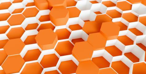 orange Hexagon Background - 3D rendering - Illustration - Stock Photo or Stock Video of rcfotostock | RC-Photo-Stock