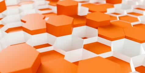 orange Hexagon Background - 3D rendering - Illustration - Stock Photo or Stock Video of rcfotostock | RC-Photo-Stock