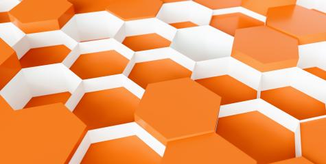 orange Hexagon Background - 3D rendering - Illustration - Stock Photo or Stock Video of rcfotostock   RC-Photo-Stock