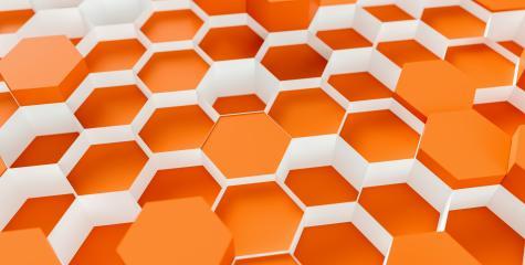 orange Hexagon honeycomb Background - 3D rendering - Illustration- Stock Photo or Stock Video of rcfotostock | RC-Photo-Stock