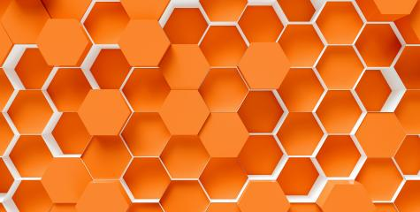 orange Hexagon honeycomb Background - 3D rendering - Illustration- Stock Photo or Stock Video of rcfotostock | RC-Photo-Stock