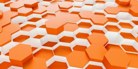 orange Hexagon honeycomb Background - 3D rendering - Illustration - Stock Photo or Stock Video of rcfotostock | RC-Photo-Stock