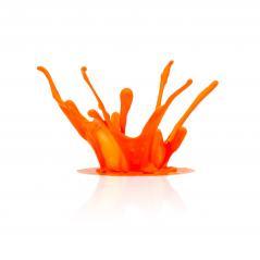 orange paint splashing - Stock Photo or Stock Video of rcfotostock | RC-Photo-Stock