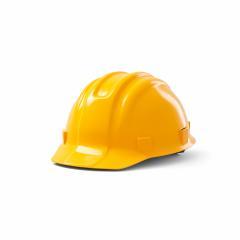 orange safety helmet on white background. 3D rendering- Stock Photo or Stock Video of rcfotostock | RC-Photo-Stock