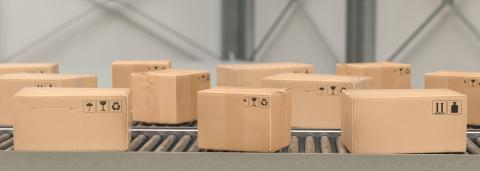 Packages delivery, packaging service and parcels, cardboard boxes on conveyor belt in warehouse, transportation system concept image : Stock Photo or Stock Video Download rcfotostock photos, images and assets rcfotostock | RC-Photo-Stock.: