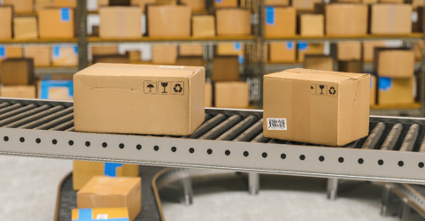 Packages delivery, packaging service and parcels transportation system concept, cardboard boxes on conveyor belt in warehouse : Stock Photo or Stock Video Download rcfotostock photos, images and assets rcfotostock | RC-Photo-Stock.: