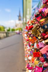 padlocks in cologne at the Hohenzollern Bridge- Stock Photo or Stock Video of rcfotostock | RC-Photo-Stock