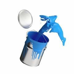paint can splashing blue bright color isolated on white background : Stock Photo or Stock Video Download rcfotostock photos, images and assets rcfotostock | RC-Photo-Stock.: