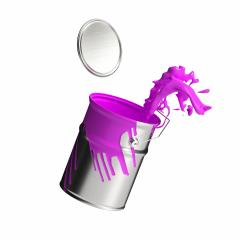 paint can splashing pink bright color isolated on white background : Stock Photo or Stock Video Download rcfotostock photos, images and assets rcfotostock | RC-Photo-Stock.: