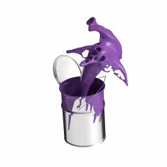 paint can splashing purple bright color isolated on white background- Stock Photo or Stock Video of rcfotostock | RC-Photo-Stock