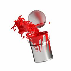 paint can splashing red bright color isolated on white background- Stock Photo or Stock Video of rcfotostock | RC-Photo-Stock
