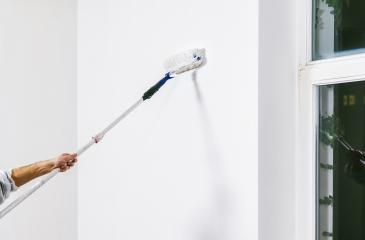 Painter working with paint roller and brushes to paint the room : Stock Photo or Stock Video Download rcfotostock photos, images and assets rcfotostock | RC-Photo-Stock.: