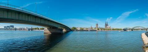panorama of the  Rhine River at cologne- Stock Photo or Stock Video of rcfotostock | RC-Photo-Stock