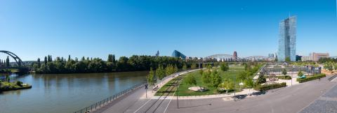 Panorama view of the European Central Bank in Frankfurt- Stock Photo or Stock Video of rcfotostock | RC-Photo-Stock