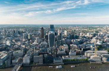Panoramic aerial View of City London in UK- Stock Photo or Stock Video of rcfotostock | RC-Photo-Stock