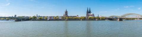 Panoramic image of Cologne with Cologne Cathedral at summer- Stock Photo or Stock Video of rcfotostock | RC-Photo-Stock