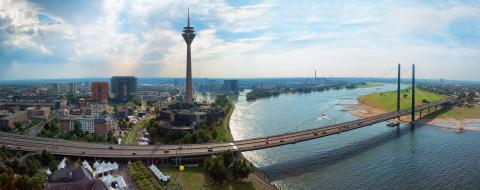 panoramic view at Dusseldorf media harbour : Stock Photo or Stock Video Download rcfotostock photos, images and assets rcfotostock | RC-Photo-Stock.: