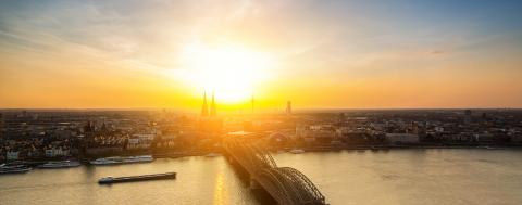 panoramic view of cologne at sunset- Stock Photo or Stock Video of rcfotostock | RC-Photo-Stock